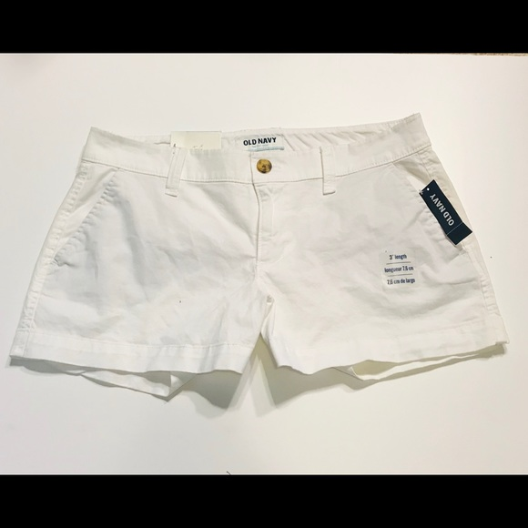 Old Navy Pants - Old Navy White Mid-Rise Shorts